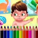 Coloriage de bébés