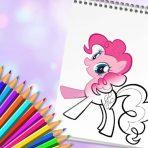 Poneys à colorier